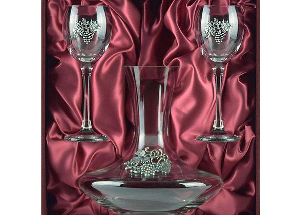 Winedimensions Wine Decanter Gift Set (Claret)