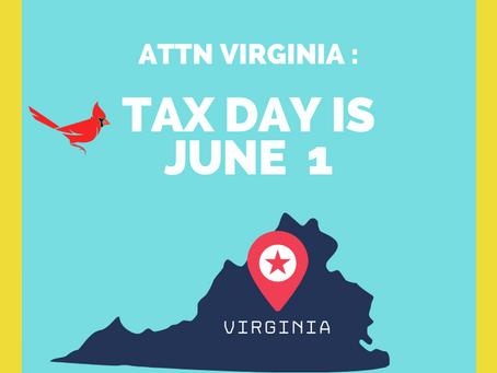 Reminder: VA taxes due June 1st