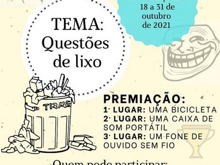 Sertão promove 1º Concurso Municipal de Memes Ambientais, com o tema 'questões do lixo'
