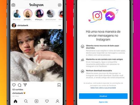 Instagram e Messenger: integração entre apps chega a todo o Brasil