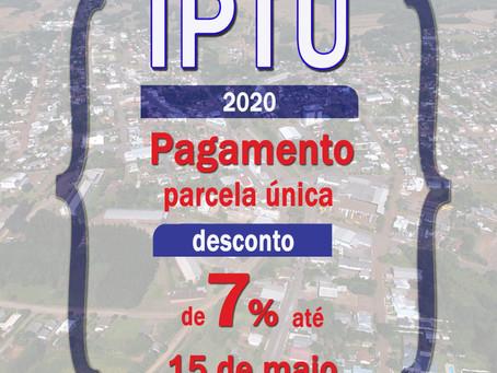 Cidadão de Estação tem até dia 15 para pagar IPTU com desconto de 7% à vista