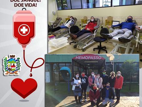 Estação disponibilizará transporte para doação de sangue no Hemopasso, de Passo Fundo