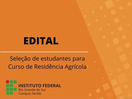 IFRS Sertão seleciona estudantes para Curso de Extensão de Formação Continuada