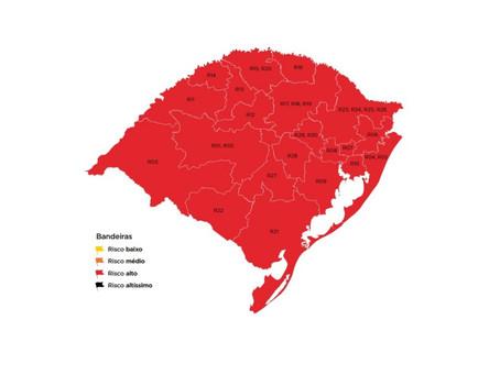 Mapa preliminar com 21 regiões em bandeira vermelha recebe 11 pedidos de reconsideração