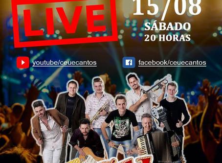 Banda Céu e Cantos faz terceira transmissão ao vivo neste sábado (15)