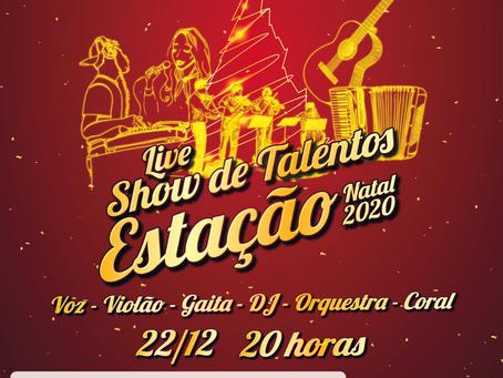 Estação terá live nas redes sociais com talentos musicais locais no dia 22 de dezembro