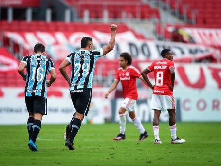 Grêmio vence Inter de virada por 2 a 1 na primeira final do Gauchão e tem vantagem no jogo de volta