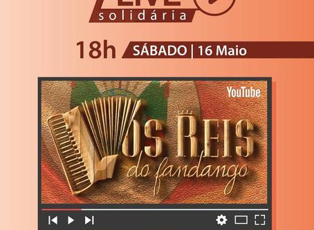 'Os Reis do Fandango' fará live solidária neste sábado (16)