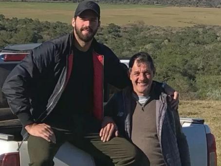 Pai dos goleiros Alisson e Muriel morre afogado em barragem
