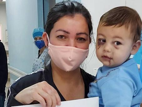Único sobrevivente de ataque a creche em Saudades, bebê de 1 ano e 8 meses tem alta no Dia das Mães