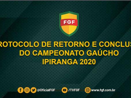 Federação Gaúcha de Futebol envia protocolo ao governo do RS para retorno do gaúchão