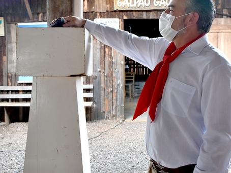 Extinção da Chama Crioula marca o encerramento do XI Acampamento Farroupilha de Getúlio Vargas