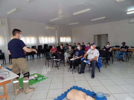 Equipe da saúde de Erebango participam de curso de Atendimento Pré-Hospitalar e Suporte Básico