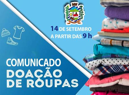 CRAS de Estação ofertará doações de roupas na segunda (14)
