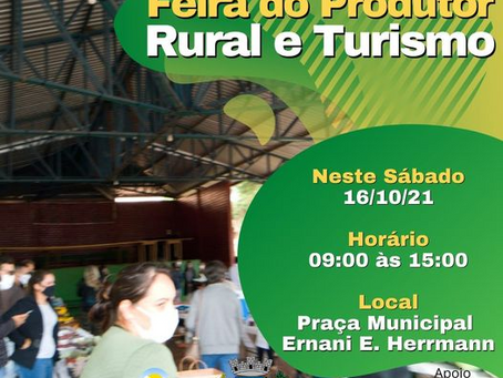 Feira do Produtor Rural e Turismo acontece neste sábado (16) em Sertão