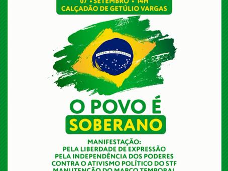 Getúlio Vargas também terá manifestações neste 07 de setembro