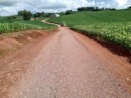 Obras preparam escoamento da safra agrícola em Ipiranga do Sul