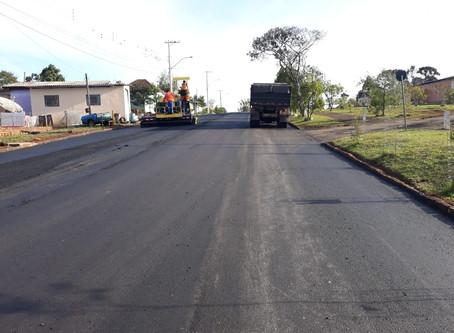 Ruas de Estação estão recebendo pavimentação asfáltica