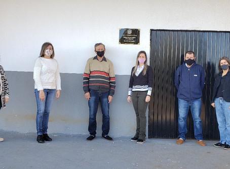 Finalizada obra de reforma na quadra coberta do Bairro São José, em Estação