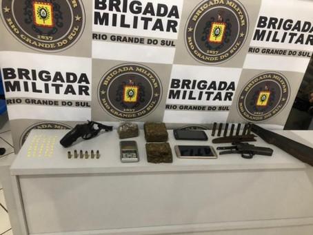 Jovem de 19 anos é preso por tráfico de drogas e porte ilegal de arma em Getúlio Vargas