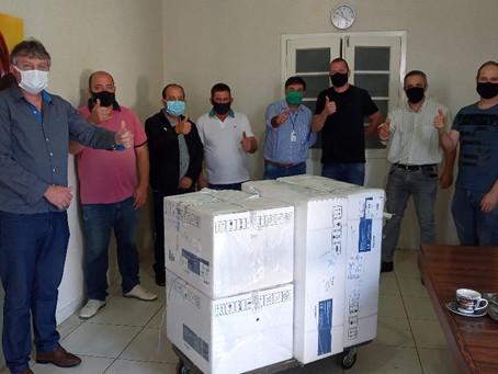 Dois respiradores são entregues ao Hospital Santo Antônio de Estação