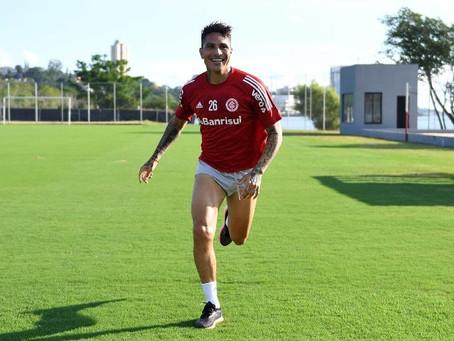 Guerrero já corre no campo e tem esperança de retornar ao Inter em março