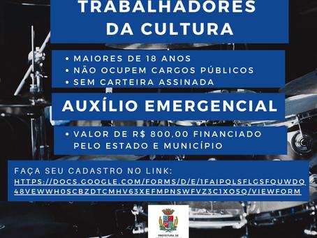 Prefeitura de Getúlio Vargas lança cadastro para auxilio emergencial de trabalhadores na cultura