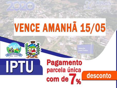 Estação: pagamento do IPTU em parcela única com desconto pode ser feito até esta sexta-feira (15)