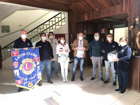 Lions Clube de Getúlio Vargas doa máscaras à prefeituras e Hospital São Roque