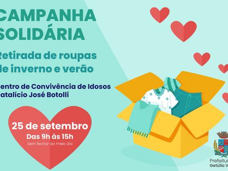 OLHO VIVO   Campanha Solidária de retirada de agasalhos e Campanha de Vacinação contra Covid-19