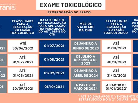 Termina amanhã o prazo para renovação do exame toxicológico de CNHs