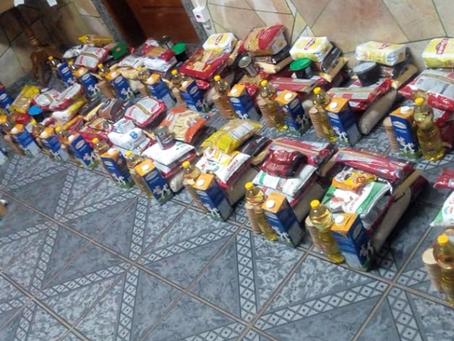 Alunos da UFFS Erechim doam mais de 640 kg de alimentos para famílias necessitadas