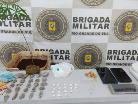 BM de Getúlio Vargas prende casal por tráfico de entorpecentes
