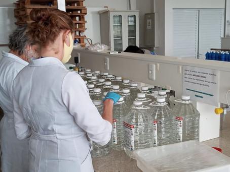 Defesa Civil, AMAU e UFFS produzem álcool em gel para a região
