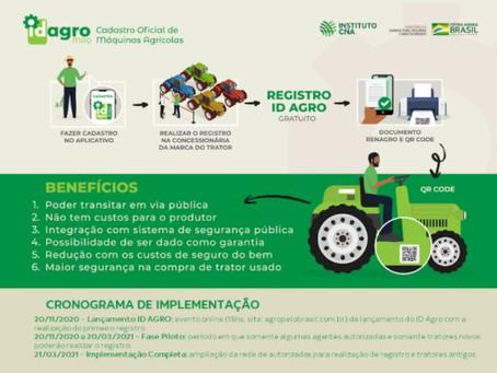 ID Agro vai permitir o registro gratuito de tratores e máquinas agrícolas