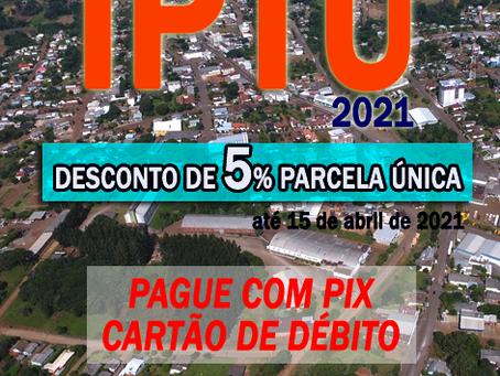 Estação: IPTU 2021 pode ser pago com Pix ou cartão de débido