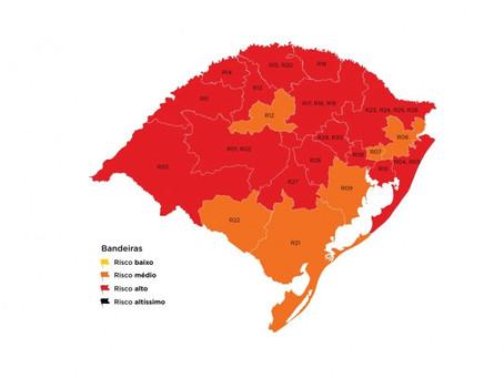 Último mapa definitivo do Distanciamento Controlado de 2020 confirma 15 regiões em bandeira vermelha