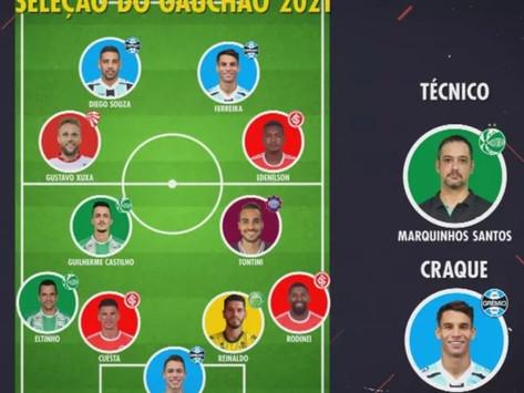 Grêmio leva mais prêmios, mas divide seleção do Gauchão com o Inter; Ferreira é o craque