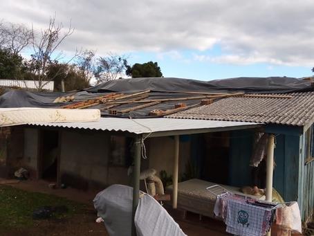 Mais de 90 famílias de Erebango tiveram prejuízos com o temporal da segunda-feira (26)