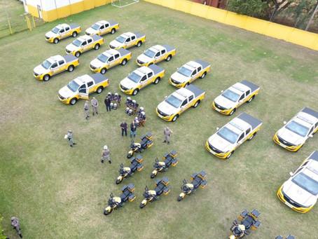 Comando Rodoviário recebe 35 novas viaturas do governo do Estado do RS