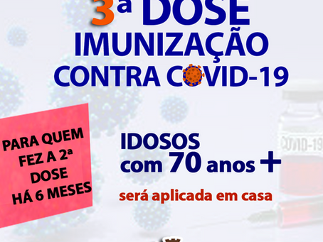 Dose de reforço da vacina contra a Covid-19 será aplicada na residência dos moradores de Estação
