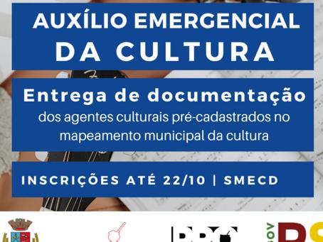 Inscrições abertas para o Auxílio Emergencial da Cultural de Getúlio Vargas