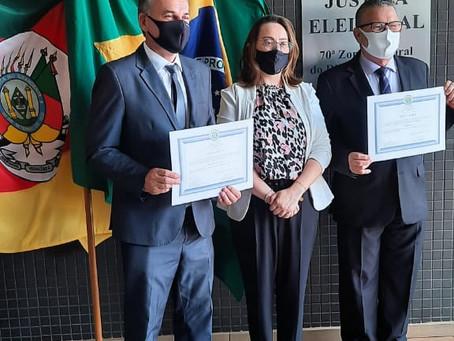 Prefeitos eleitos da 70ª Zona Eleitoral são diplomados na tarde desta sexta (18)