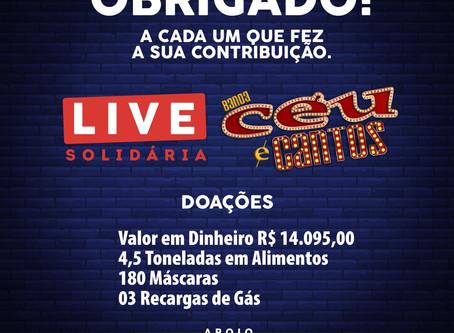 Live solidária da banda getuliense Céu e Cantos arrecada mais de R$ 14 mil