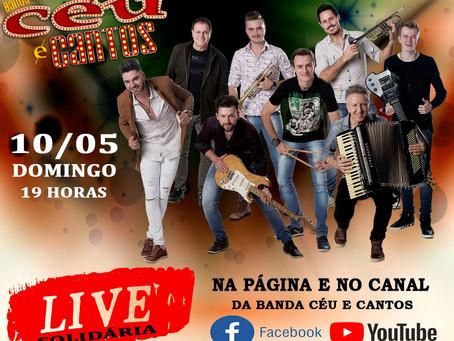 Banda getuliense Céu e Cantos fará live solidária no Facebook e YouTube