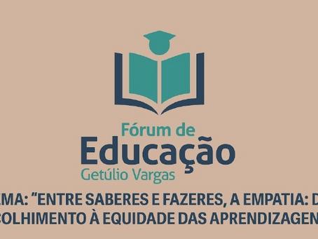 UNIDEAU é parceira do Fórum de Educação de Getúlio Vargas; evento acontece de 06 a 08 de outubro