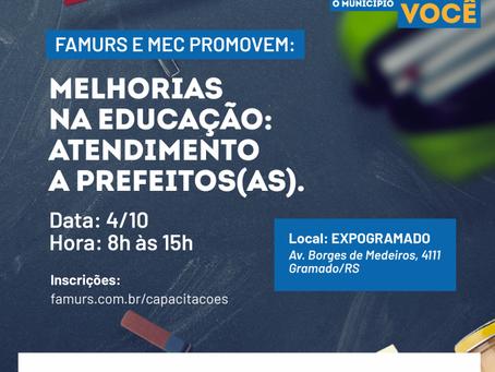[ÁUDIO]Famurs e MEC promovem encontro para apresentar programas e políticas públicas para a Educação