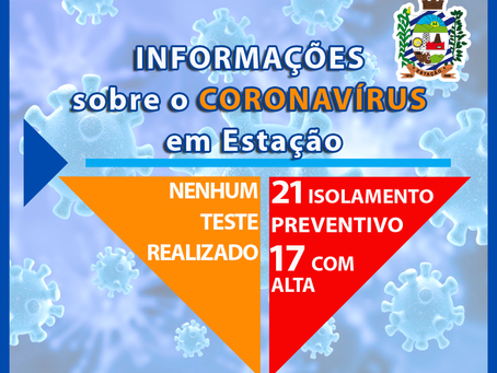 Estação atualiza números relativos ao coronavírus no município