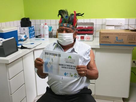 Indígenas de Erebango recebem a vacina contra a covid-19