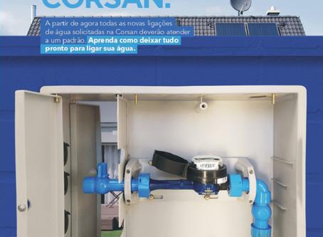 Corsan implanta novo padrão de ligação de água